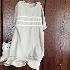 Bobbie Brooks 2pc skirt/top set in beige/white